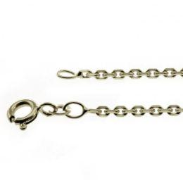 38 cm Ankerkette - 585 Weißgold - 1,7 mm Halskette