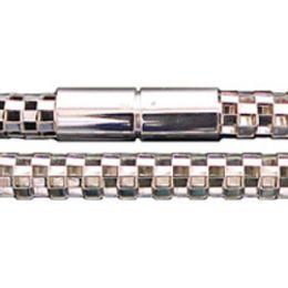 45 cm Collier mit Bajonettverschluss - 7 mm - 925 Silber Halskette