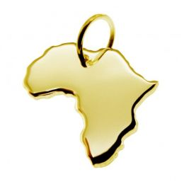 AFRIKA Kettenanhänger aus massiv 585 Gelbgold