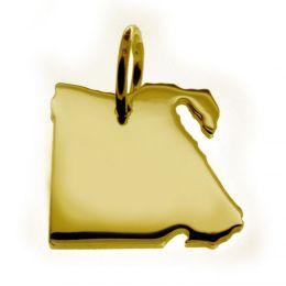 ÄGYPTEN Kettenanhänger aus massiv 585 Gelbgold