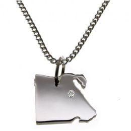 ÄGYPTEN Kettenanhänger Silber mit Brillant am Wunschort mit Halskette