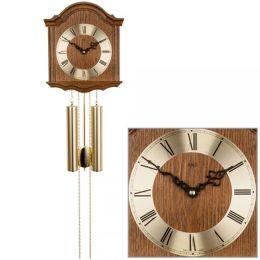 AMS 206/4 Wanduhr mit Pendel mechanisch Holz Eiche Heimuhr Pendeluhr