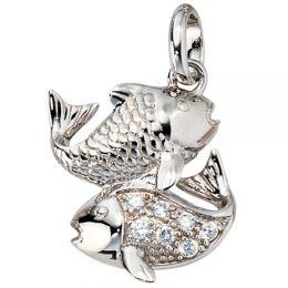 Anhänger Sternzeichen Fische 925 Silber mit Zirkonia