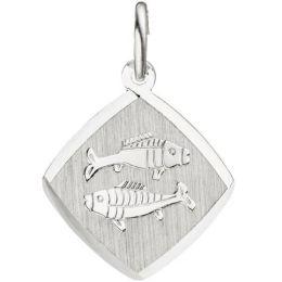 Anhänger Sternzeichen Fische 925 Sterling Silber matt