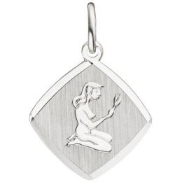 Anhänger Sternzeichen Jungfrau 925 Sterling Silber matt