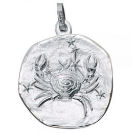 Anhänger Sternzeichen Krebs 925 Sterling Silber matt
