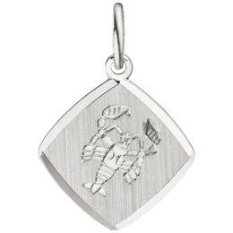 Anhänger Sternzeichen Krebs 925 Sterling Silber teilmattiert