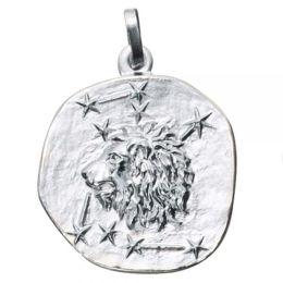 Anhänger Sternzeichen Löwe 925 Sterling Silber matt