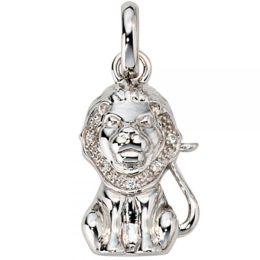 Anhänger Sternzeichen Löwe 925 Sterling Silber mit Zirkonia