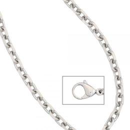 Ankerkette Edelstahl 45 cm Halskette Kette Karabiner