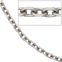 Ankerkette Edelstahl 50 cm Halskette Kette Karabiner 4,3 mm breit