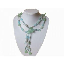 Aquamarin Halskette 120 cm lang