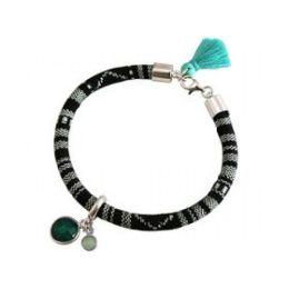 Armband 925 Silber AZTEC Smaragd Chalcedon Grün MeeresGrün