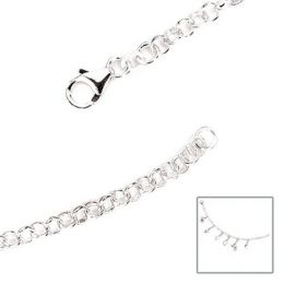 Armband 925 Sterling Silber 19 cm Bettelarmband für Charms