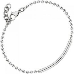 Armband Edelstahl 20 cm Kugelarmband mit Karabinerverschluss
