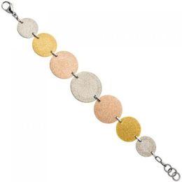 Armband Edelstahl tricolor dreifarbig beschichtet 20 cm