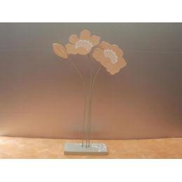 Blume aus Holz, in Naturfarben