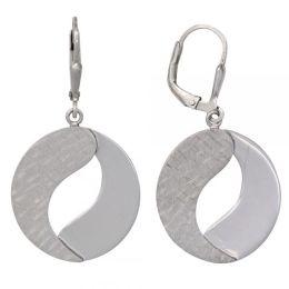 Boutons 925 Sterling Silber rhodiniert teilmattiert Ohrringe Ohrhänger