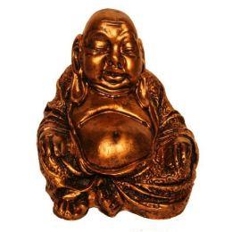 Buddha-Figur sitzend in Bronze, 24 cm