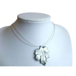 Chrysanthemen-Blatt Halskette 925 Silber
