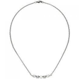 Collier Halskette aus Edelstahl mit 14 Zirkonia 42 cm