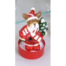 Deko-Kerzen Teelichter lustiger Elch 6 Stück rot 6 cm