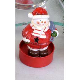 Deko-Kerzen Teelichter lustiger Schneemann 6 Stück rot 6 cm