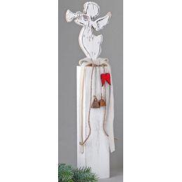 Deko-Ständer aus Holz mit Engel, 54 cm