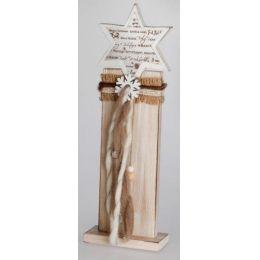 Deko-Ständer aus Holz mit Stern, 42 cm