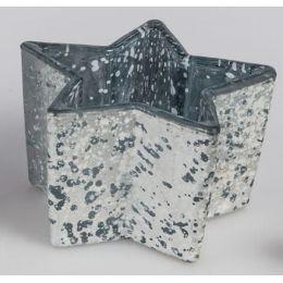 Deko-Windlicht Stern Frosty aus Glas, 13 cm