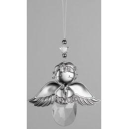 Dekohänger Engel aus Acryl, silber 13 cm