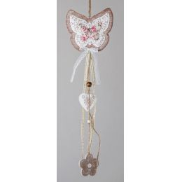 Dekohänger Schmetterling in Creme, 45 cm