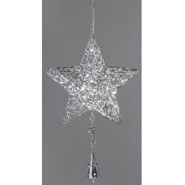 Dekohänger Weihnachtsstern aus Metall mit LED, 30 cm