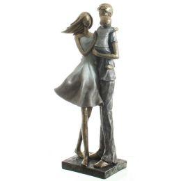 DIO Dekofigur Familie stehend in Blau, Grau, Silber, Gold, 32 cm