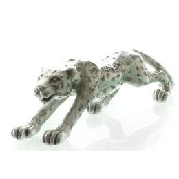 DIO Dekofigur Leopard in Silber glänzend, 34,5 cm