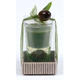 Duftkerze Olive im Glas