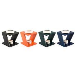 Duftlampe aus Holz und Keramik, 13 cm hoch