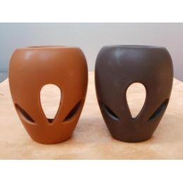 Duftlampe aus Keramik in Braun oder Dunkelbraun