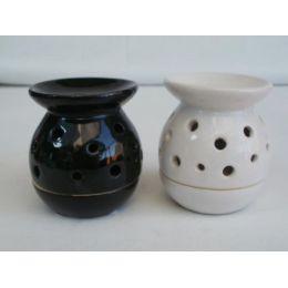 Duftlampe aus Keramik in Schwarz oder Weiß, 8,2 cm