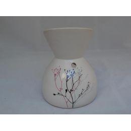 Duftlampe aus Keramik weiß-bemalt