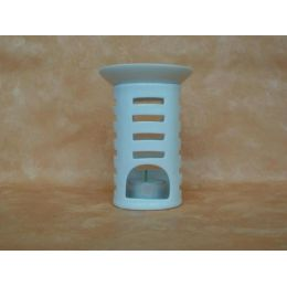 Duftlampe aus Porzellan in Weiß, 15 cm hoch