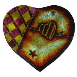 Edle Dekoschale Fantasy Heart aus Glas, 20 x 18 cm in Herzform