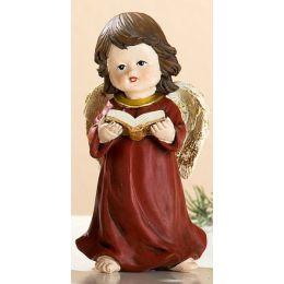 Engel-Figur mit Buch in der Hand, 12 cm