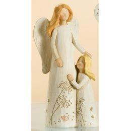 Engelpaar Mutter mit Kind rechts, creme, 15 cm