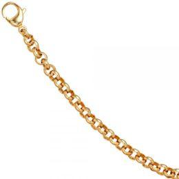 Erbsarmband Edelstahl vergoldet 19 cm Armband Karabiner