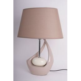 Exklusive Lampe in Creme und Braun, 47 cm