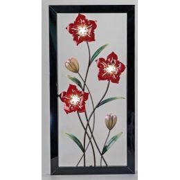 Extravagante Wanddeko Blume mit LED Beleuchtung, 40 x 80 cm