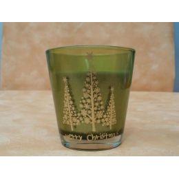 festliche Kerze im Glas - Merry Christmas