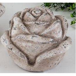 formano Deko Blume steinfarben Klassik Garten, 16 cm