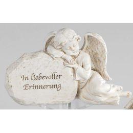 formano Deko Engel auf Stein mit Aufschrift, In liebevoller, 20 cm